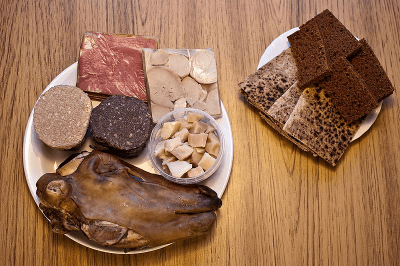 Traditional Iceland food plate