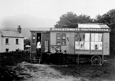 Portable photography studio in Ireland, by W.B. Micklethwaite