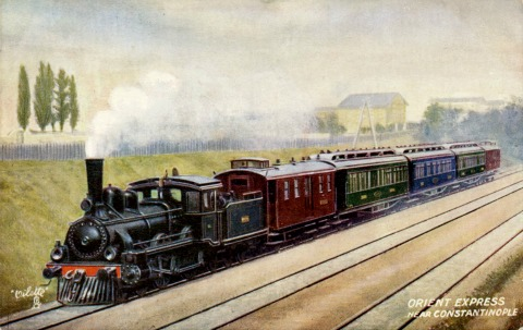 Orient Express on a postcard