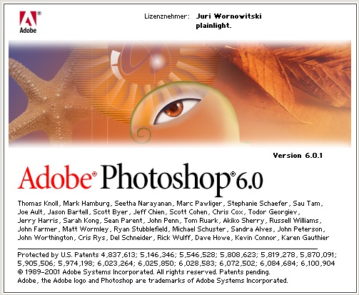 Photoshop 6.0 splash image