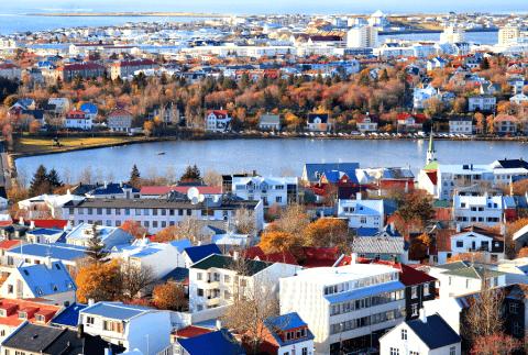View from Hallgrímskirkja, Reykjavík