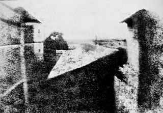 View from the window at Le Gras, by Nicéphore Niépce