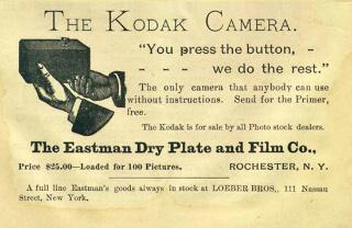 The Kodak camera advertisement