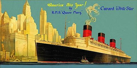 Cunard-White Star vintage poster
