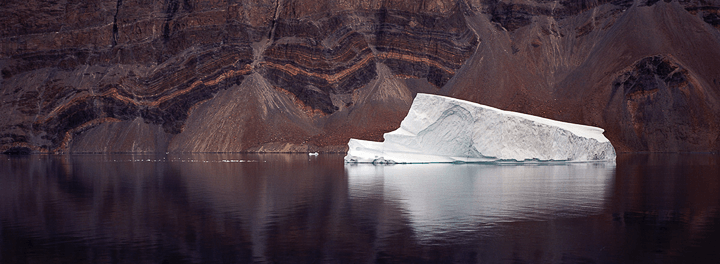 Iceberg reflection panoramic photo print — click to enlarge