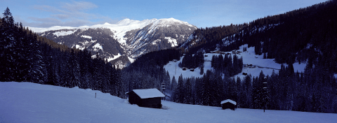 Snowy landscape near Arosa, Switzerland