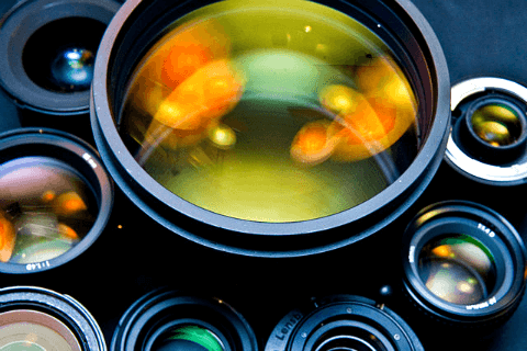 Camera lenses of different types