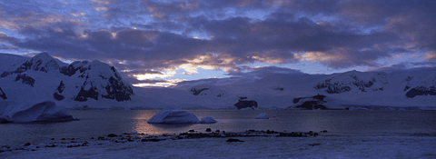 Camp on Rongé Island, Antarctica