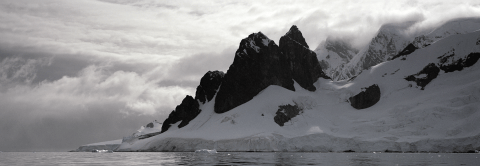 Cliffs on Rongé Island, Antarctica
