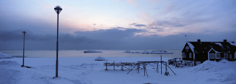 Equinox evening in Ilulissat, Greenland