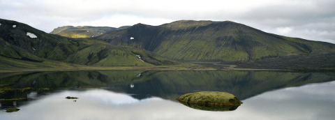 Lake near Landmannalaugar, Highlands of Iceland