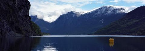 Aurlandsfjorden in Flåm, Norway