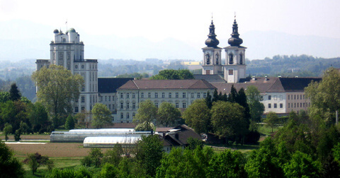 Kremsmünster Abbey from northeast