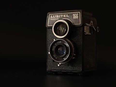 Vintage medium format twin-lens reflex camera