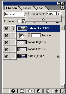 Photoshop layer palette