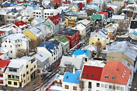 Bird's eye view of Reykjavík centre