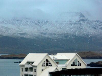 Mount Esja as seen from Reykjavík