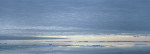 Overcast weather in Lancaster Sound, Canadian Arctic