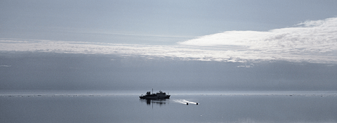 Seascape off Prince Leopold Island, Canadian Arctic
