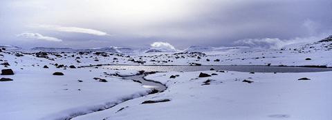 Mountains above Ísafjörður
