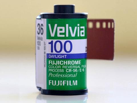 Fujifilm Velvia film cartridge