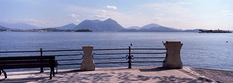 Lake Maggiore waterfront, Baveno, Italy