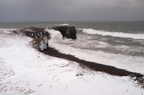Stormy sea, North Iceland