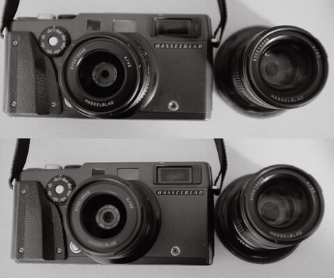 XPan lenses set to different apertures