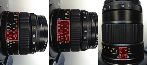 XPan lenses depth of field comparison